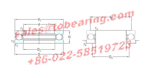 SKF 511/530F bearing,511/530F Thrust Ball Bearings
